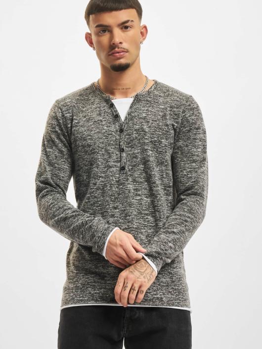 VSCT Clubwear Longsleeve Buttoned Double Optic grau
