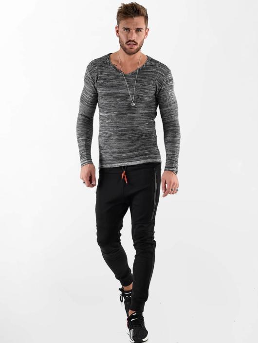 VSCT Clubwear Longsleeve Clubwear V Neck Knit Optics grau