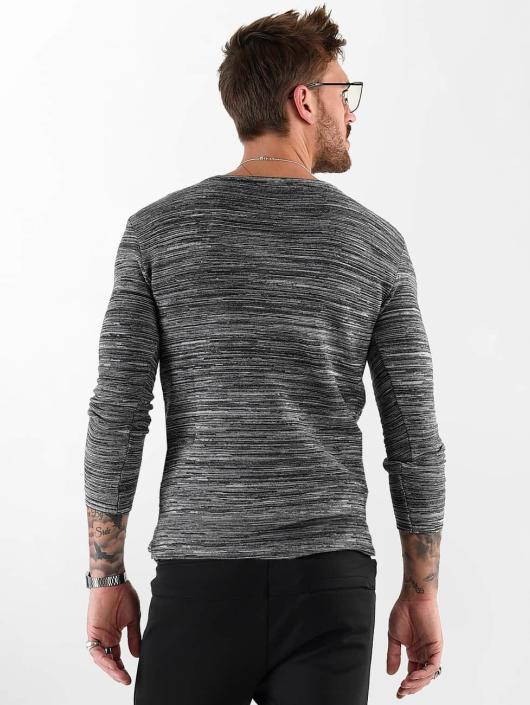 VSCT Clubwear Longsleeve Clubwear V Neck Knit Optics grijs