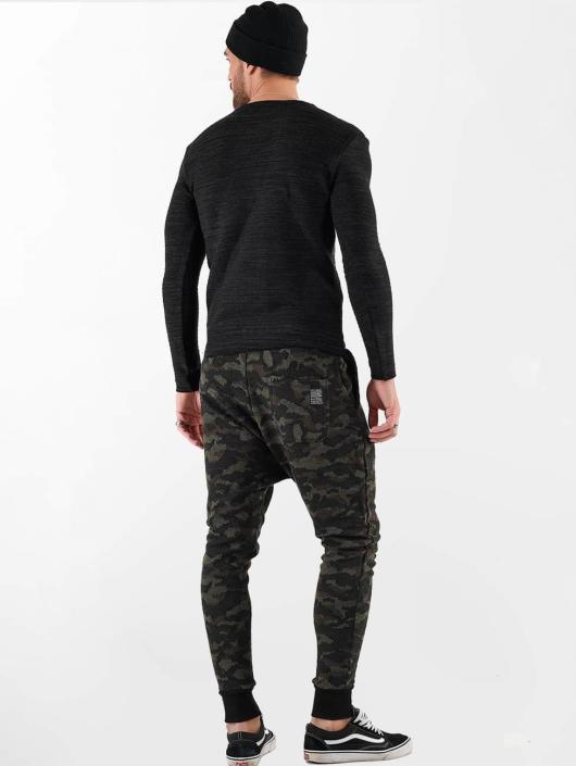 VSCT Clubwear Longsleeve Clubwear V Neck Knit Optics zwart