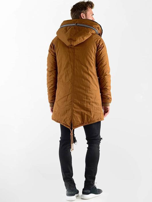 VSCT Clubwear Manteau hiver Double-Zipper Huge Luxury Sherpa brun