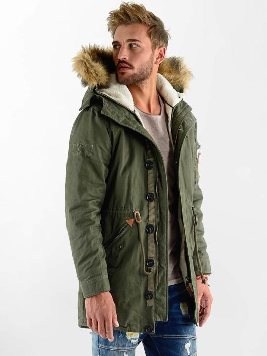 VSCT Clubwear Manteau hiver Luxury Parka olive