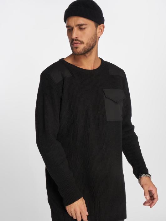 VSCT Clubwear Pulóvre Military Patch Oversized èierna