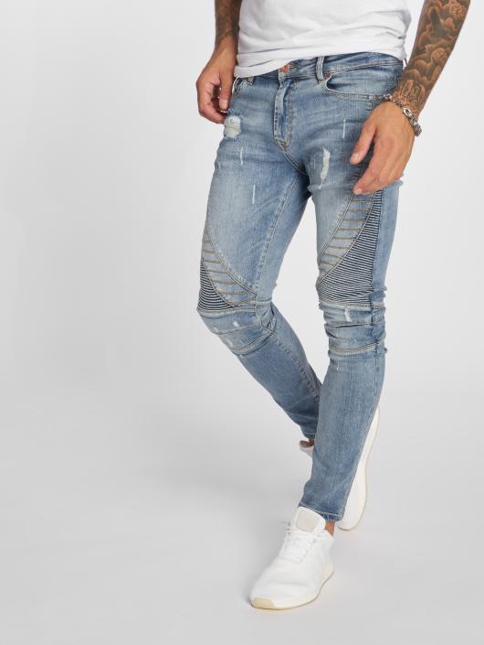 VSCT Clubwear Slim Fit Jeans Ryder Biker Luxury modrá
