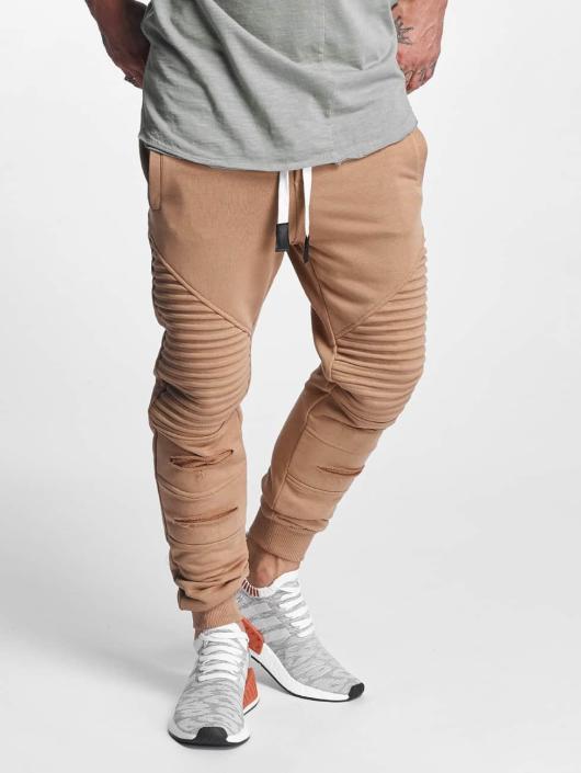 VSCT Clubwear Spodnie do joggingu Destroyed Biker brazowy
