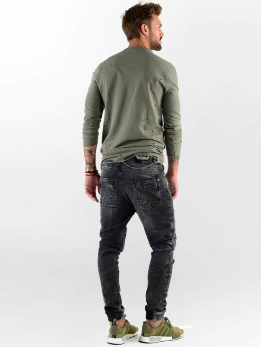 VSCT Clubwear Straight Fit Jeans Noah Biker schwarz