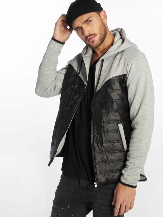 VSCT Clubwear Sweat capuche zippé 2 Colour Amour Mix Fabric gris