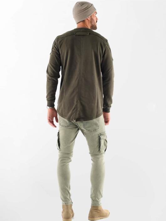 VSCT Clubwear Swetry Clubwear Flightsweat Backzip khaki