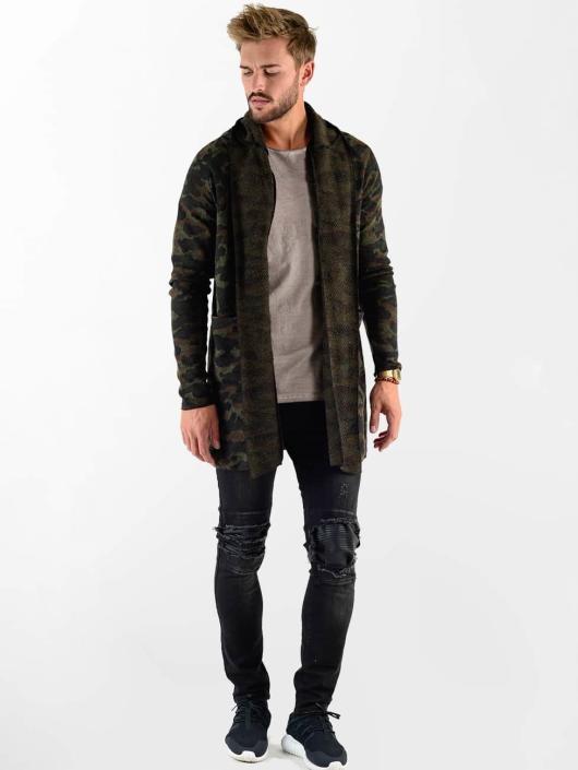 VSCT Clubwear Swetry rozpinane Open Knit moro