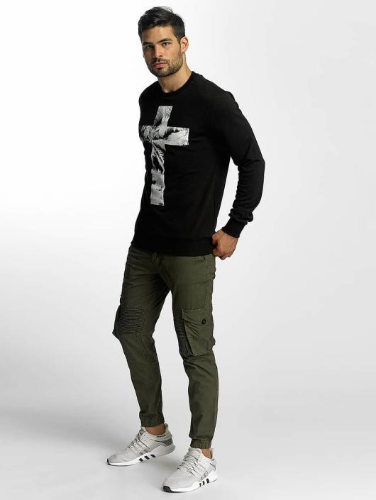 VSCT Clubwear trui Cross Palm Loose zwart