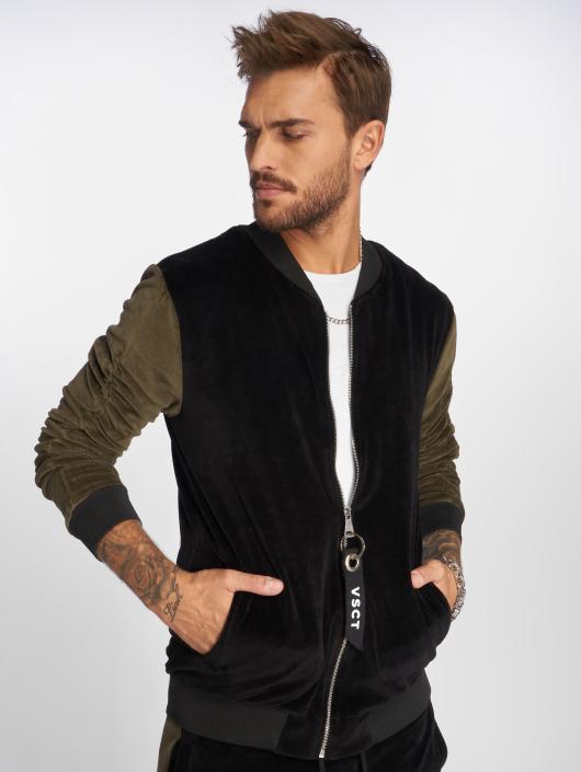 VSCT Clubwear Übergangsjacke Velour schwarz