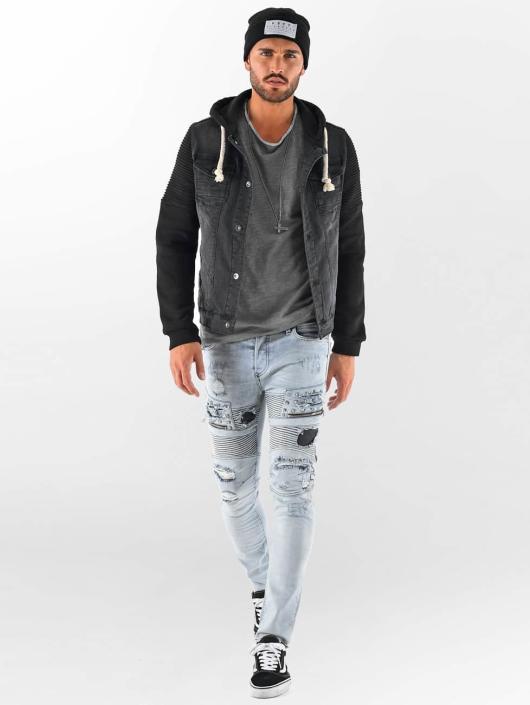 438711 Vsct Clubwear Biker Homme Customized Noir Veste Jean nwO0kXN8PZ