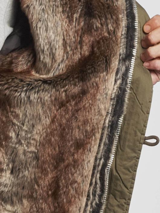 VSCT Clubwear Winterjacke Double-Zipper khaki