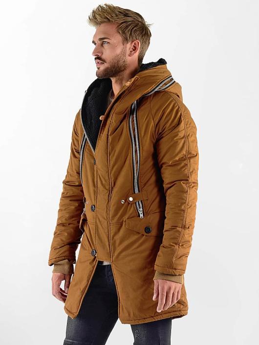 VSCT Clubwear winterjas Double-Zipper Huge Luxury Sherpa bruin