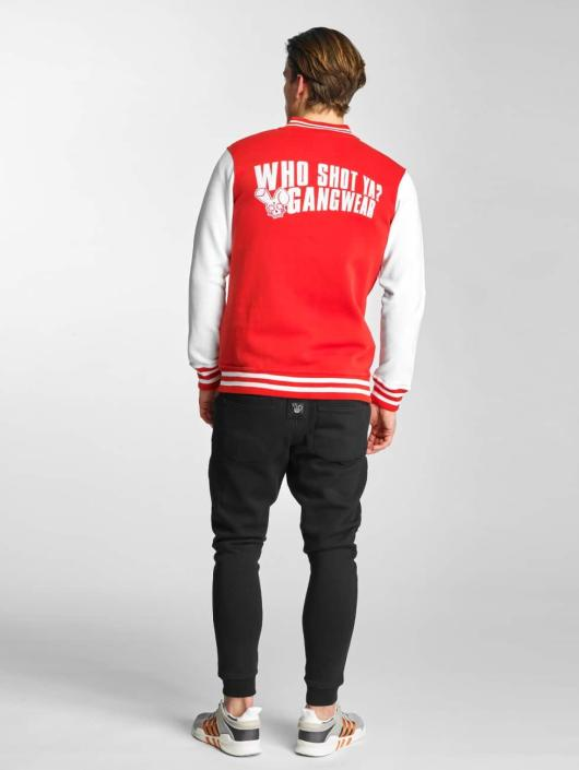 Who Shot Ya? College Jacke Alpha rot