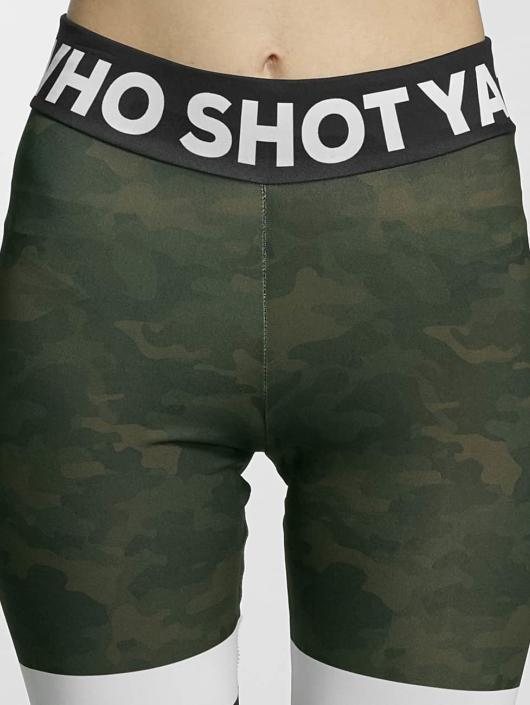 Who Shot Ya? Leggings/Treggings Booty green