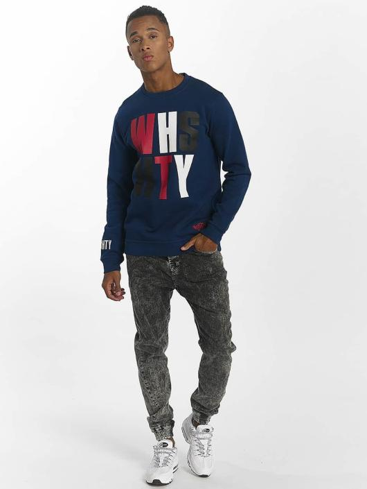 Who Shot Ya? Pullover WHSHTY blau