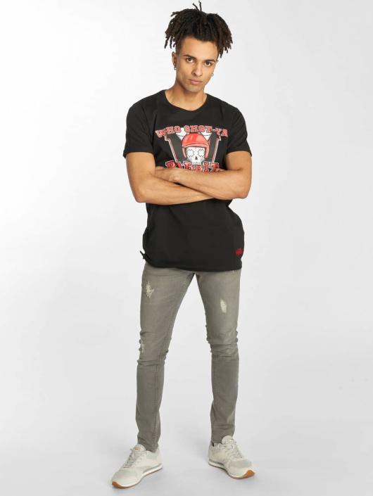Who Noir Shot Homme YaRabbits 401375 T shirt H2YWED9I