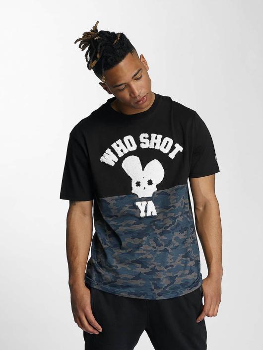 Who Shot Ya? t-shirt Darkcamou zwart
