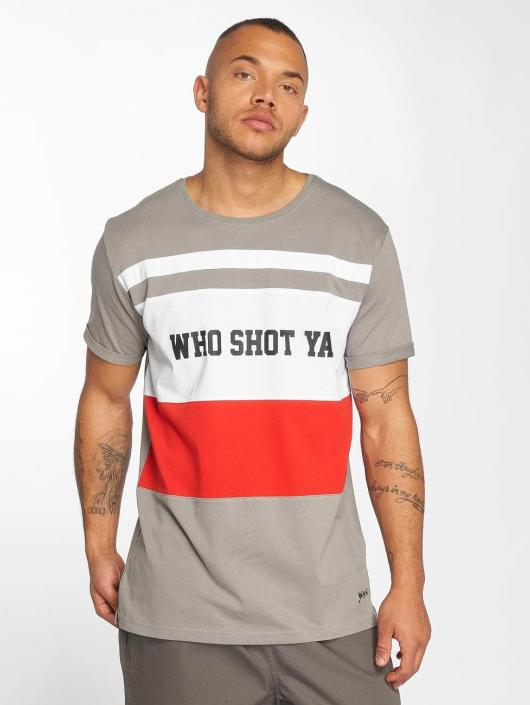 Who Shot Ya? Tričká PortMorris šedá