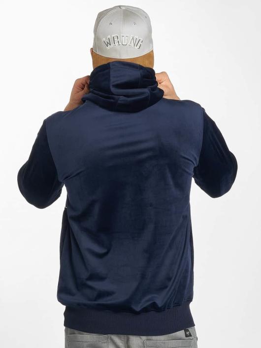 Wrung Division Bluzy z kapturem Peach Half niebieski