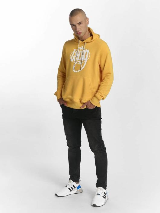 Wrung Division Felpa con cappuccio Vintage giallo