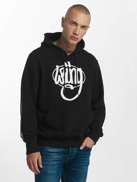 Wrung Division Felpa con cappuccio Vintage Logo nero