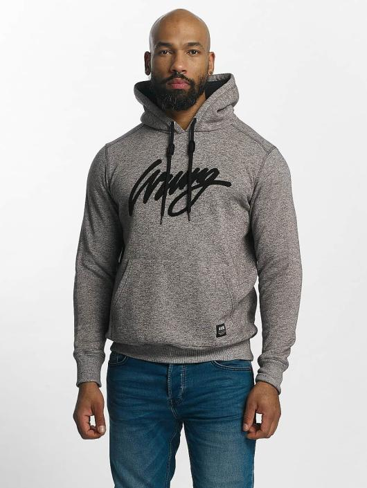 Wrung Division Sweat capuche Heather Sign gris