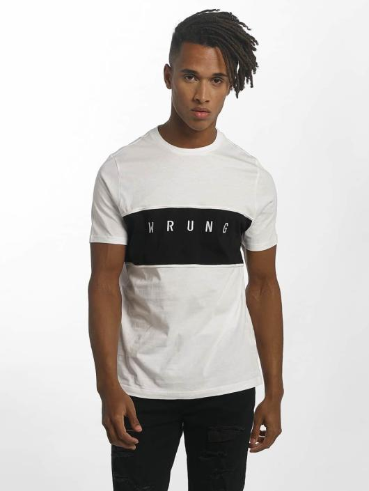 Wrung Division T-shirt Dist bianco