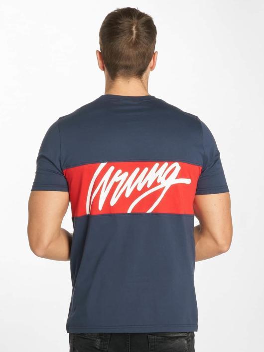 Wrung Division T-skjorter Backer blå