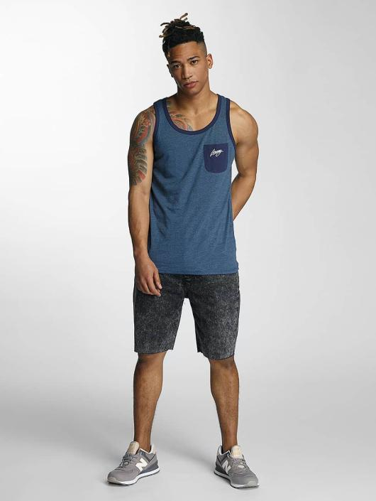 Wrung Division Tank Tops Poke blue