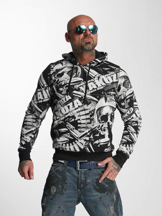 Yakuza Bluzy z kapturem Gunner Allover czarny