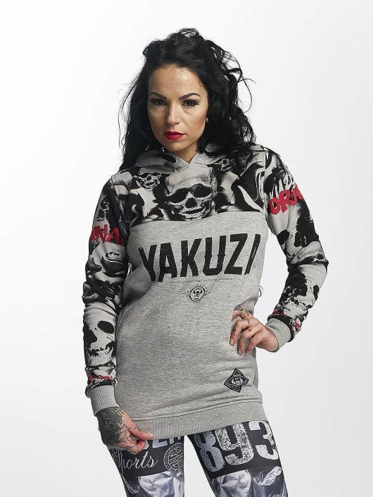 Yakuza Bluzy z kapturem Sick N Fuck Flex szary