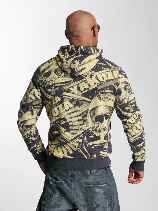 Yakuza Bluzy z kapturem Gunner Allover zólty