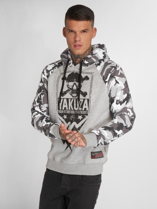 Yakuza Felpa con cappuccio Skull Two Face grigio