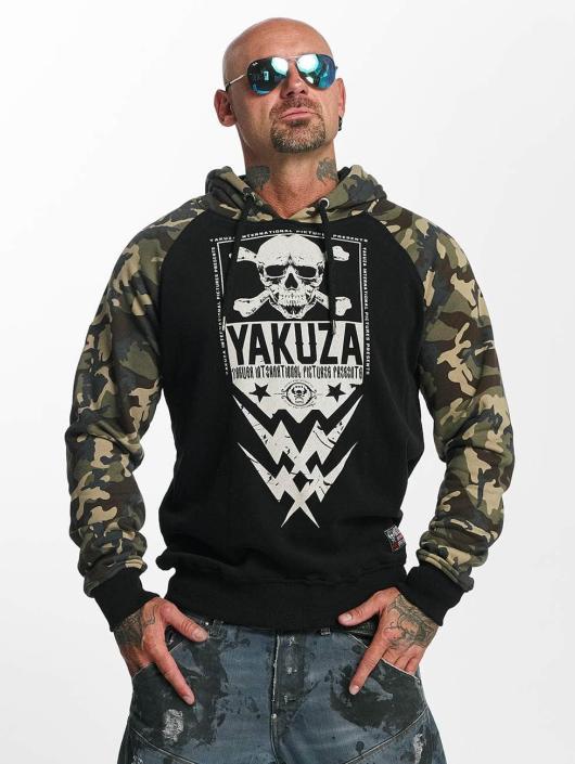 Yakuza Felpa con cappuccio Skull Two Face nero