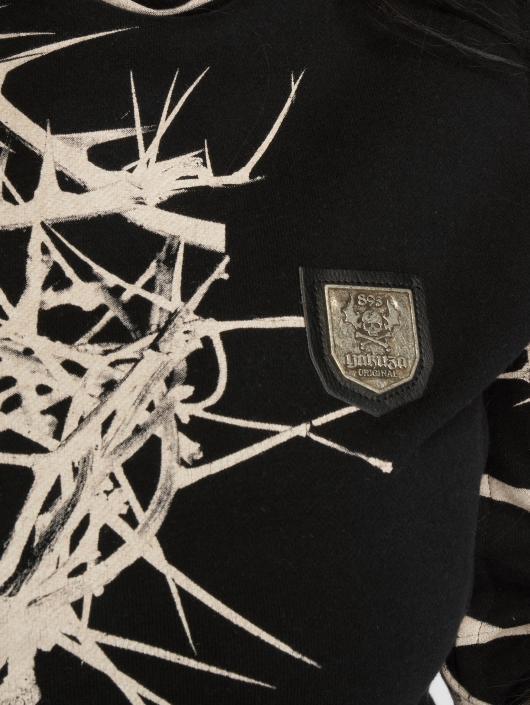 Yakuza Felpa con cappuccio Thorns Flex nero