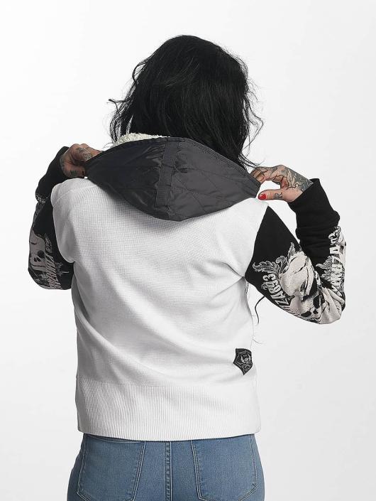 Yakuza Giacca invernale Skull Teddy Jacket bianco