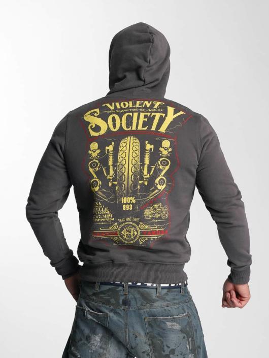 Yakuza Hoodie Violent Society gray