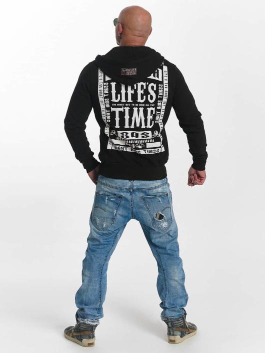 Yakuza Hoodies con zip Too Short nero
