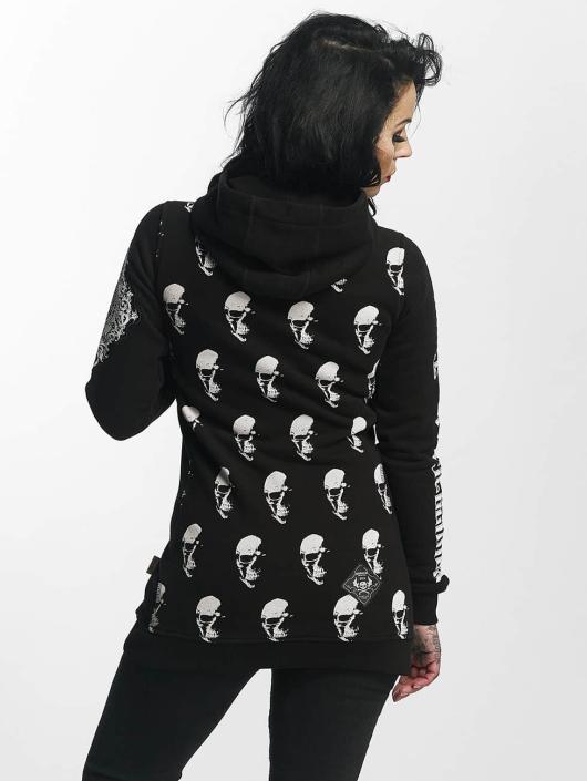 Yakuza Hupparit Allover Skull Flex musta
