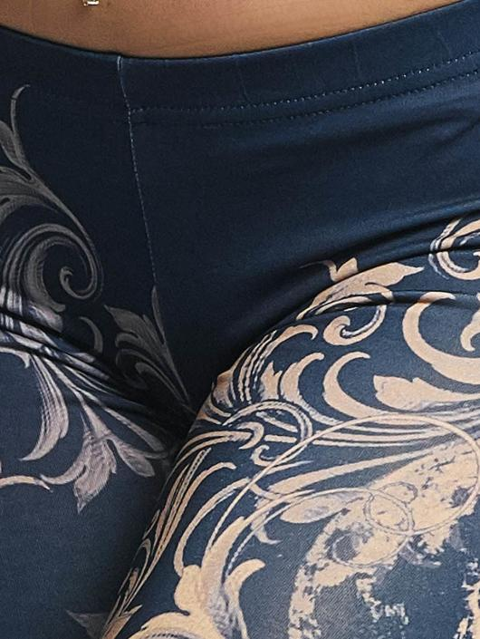 Yakuza Legging Floral blauw