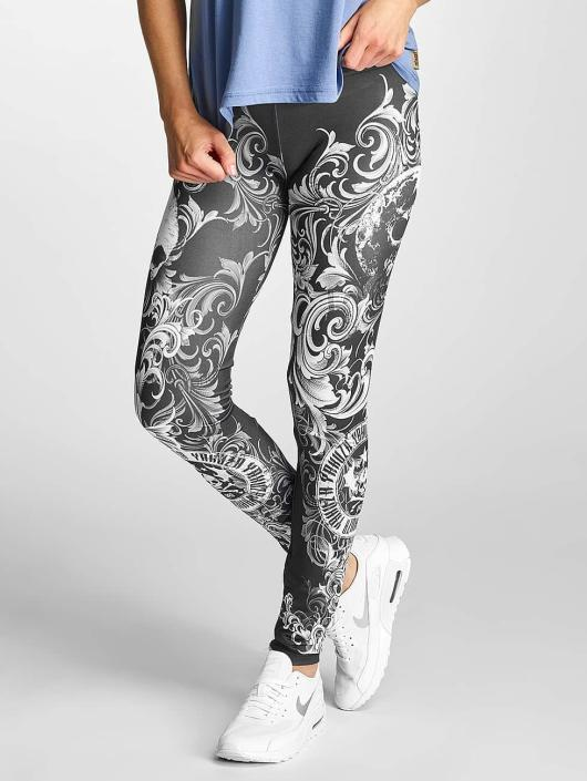 Yakuza Leggings/Treggings Floral svart