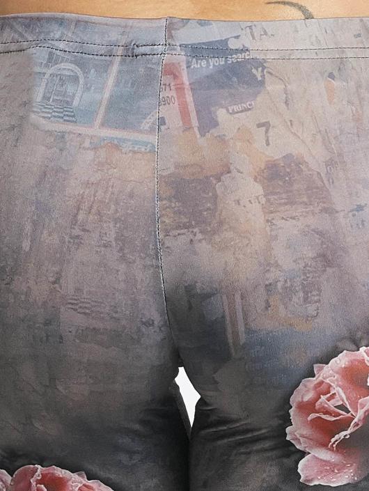 Yakuza Leggingsit/Treggingsit Rose Skull oliivi
