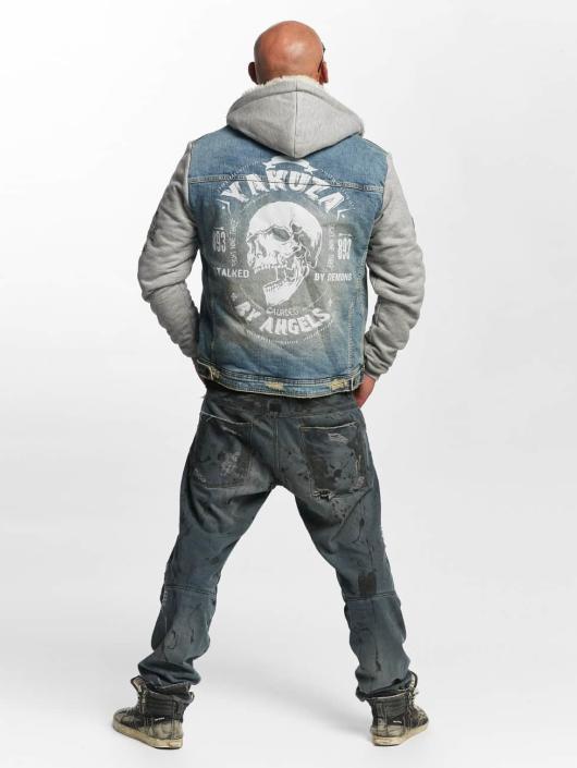 Yakuza Lightweight Jacket Stalked By Devils Denim Teddy blue