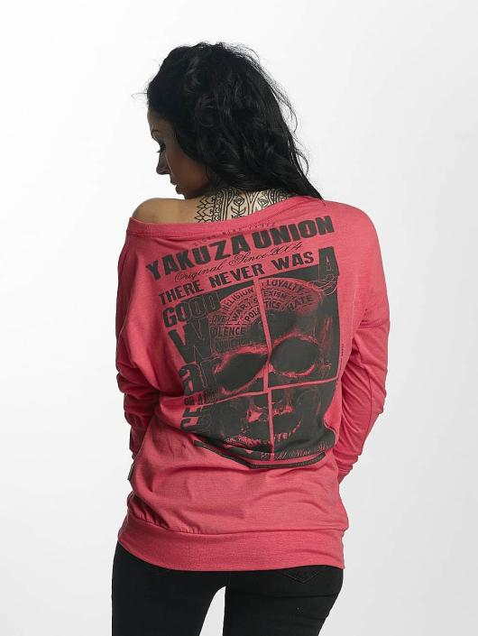 Yakuza Maglietta a manica lunga 893 Union rosa