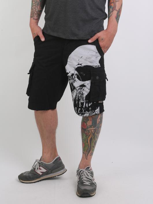 Yakuza Pantalón cortos Skull negro