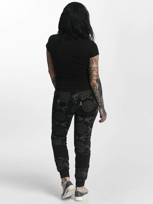 Yakuza Pantalone ginnico Allover Snake nero