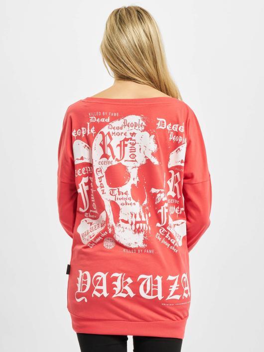Yakuza Pitkähihaiset paidat Skull Script Two Face vaaleanpunainen