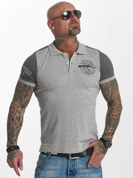 Yakuza Poloshirt AK Two Faces gray